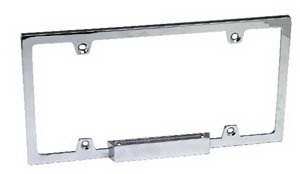 In Pro Car Wear Billet Smooth License Plate Frame with Light