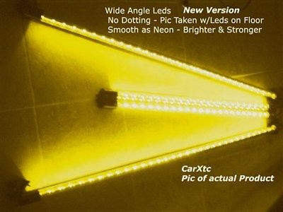 4pc Yellow Wide-Angle LED Undercar-Underbody Kit