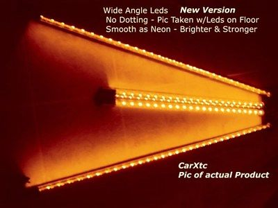 4pc Orange Wide-Angle LED Undercar-Underbody Kit