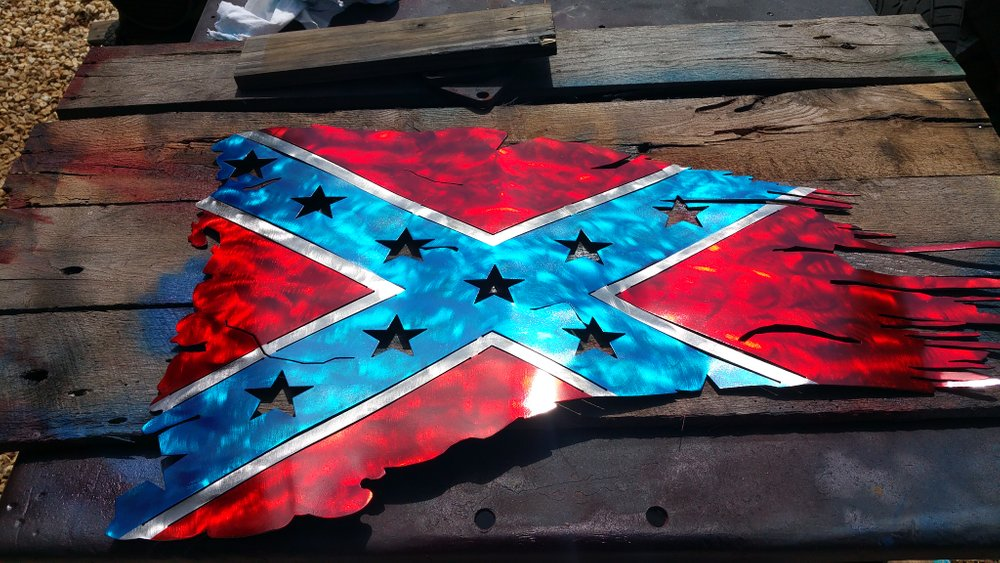 Confederate Battle Flag Steel Wall Sign