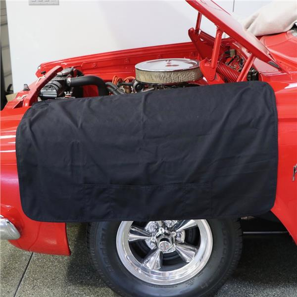 Black Plushweave Garage Vehicle Fender Protective Cover