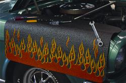 Red-Orange Flames Fender Protective Cover