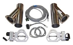 Pypes Performance Dual 3.0 Inch Electric Exhaust Cutout Kit