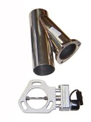Pypes Performance Single 2.5 Inch Electric Exhaust Cutout Kit