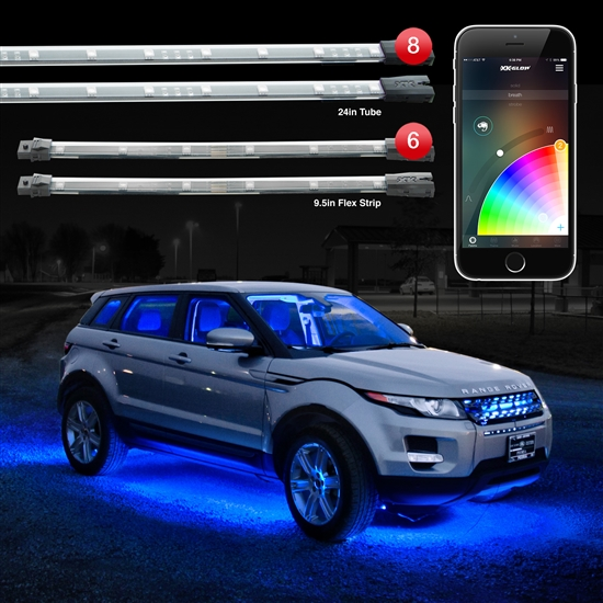 Smart Phone controlled 14pc 16 Million Color Undercar Light Kit