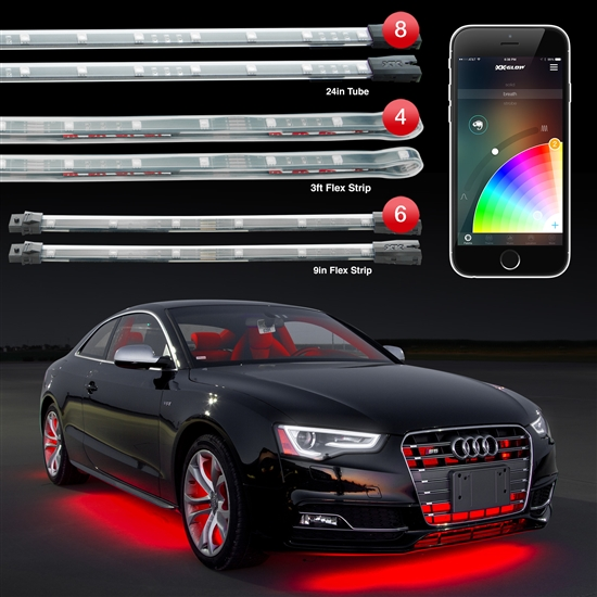 Smart Phone controlled 18pc 16 Million Color Undercar Light Kit