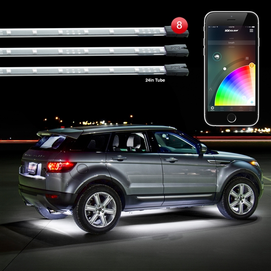 Smart Phone controlled 8pc 16 Million Color Undercar Light Kit
