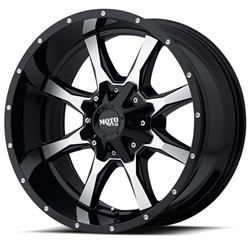 "MO970 Gloss Gray-Gloss Black Wheel 20""x9"" 94-18 Dodge Ram 1500"