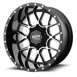 "MO986 Gloss Black-Machined Wheel 20""x9"" 94-18 Dodge Ram 1500"