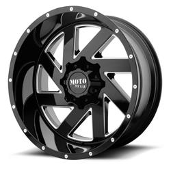 "MO988 Gloss Black-Machined Wheel 20""x9"" 94-18 Dodge Ram 1500"
