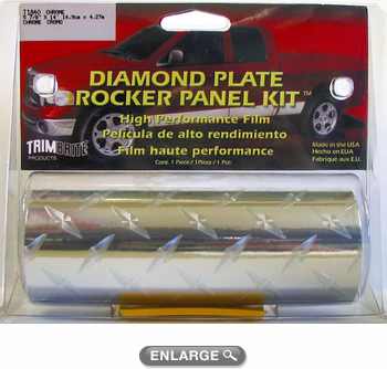 "Trimbrite Diamond Plate Rocker Panel Kit 5-7/8"" x 14ft"