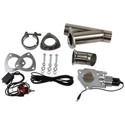 Stainless Steel Pipe Single 3.0 Inch Electric Exhaust Cutout Kit
