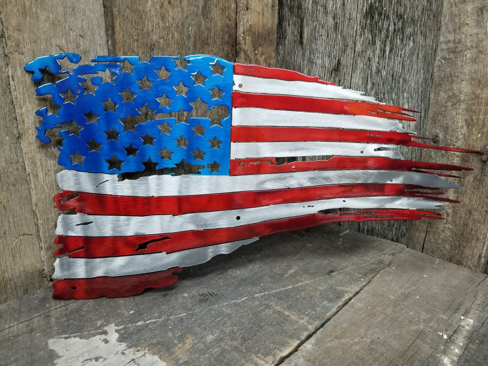 American Battle Flag Steel Wall Sign