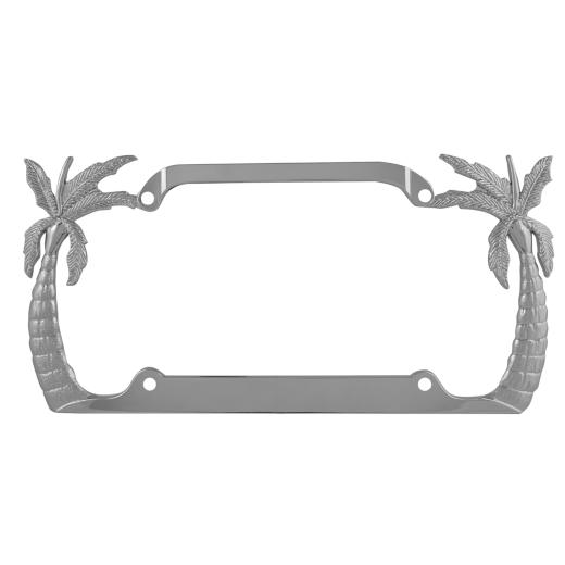 Pilot Chrome Palm Tree License Plate Frame