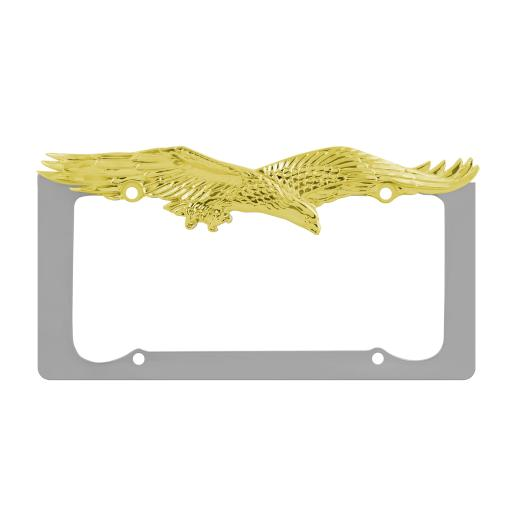 Pilot Chrome-Gold Eagle License Plate Frame
