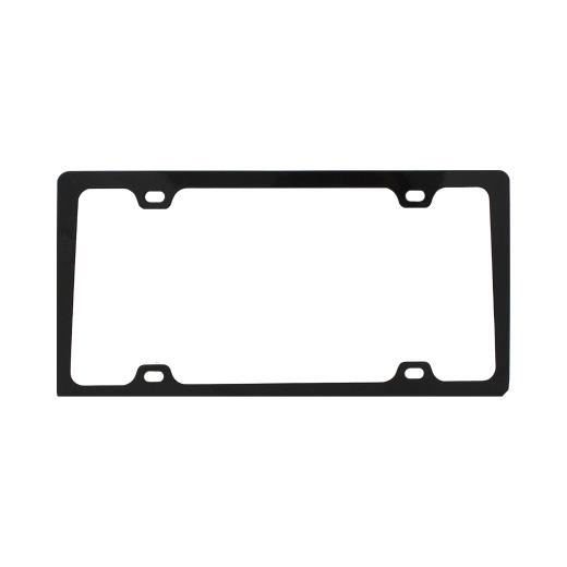 Pilot 4 Hole Mount Black License Plate Frame W/ Caps
