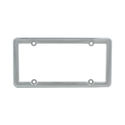 Pilot 4 Hole Mount Chrome License Plate Frame W/ Caps