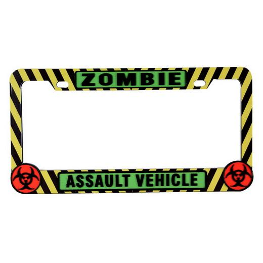 Pilot Zombie Assault Vehicle License Plate Frame