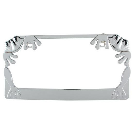 Pilot Chrome Froggy License Plate Frame