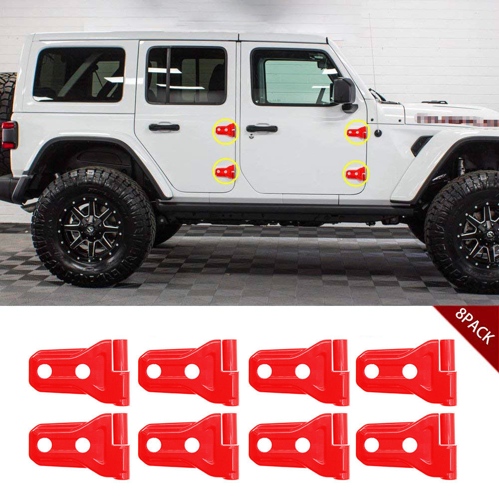 2018-up Jeep Wrangler JL Bright Red 4 Door Hinge Covers