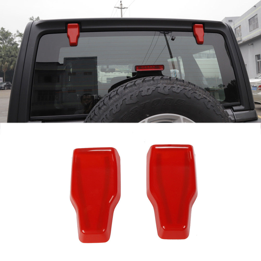 2018-up Jeep Wrangler JL Bright Red Rear Window Hinge Covers