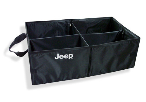 Mopar OEM Collapsible Cargo Tote with Jeep Logo - Click Image to Close