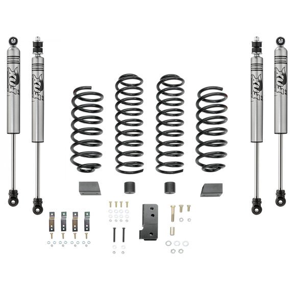 "2.5"" Coil Spring Suspension Kit FOX IFP Shocks 07-up Wrangler 2D"